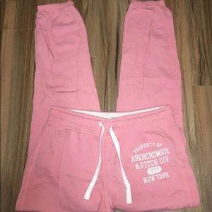Pink Abercrombie sweatpants size S